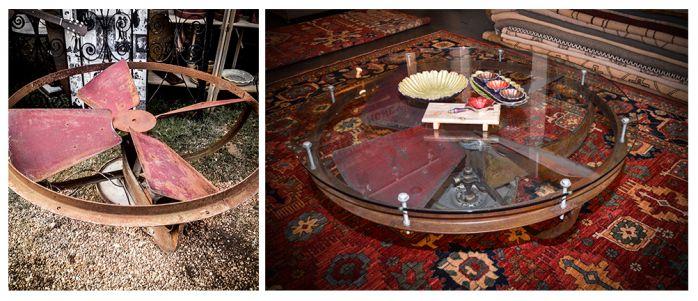 industrialtrash.moderntreasure.round.coffee.table